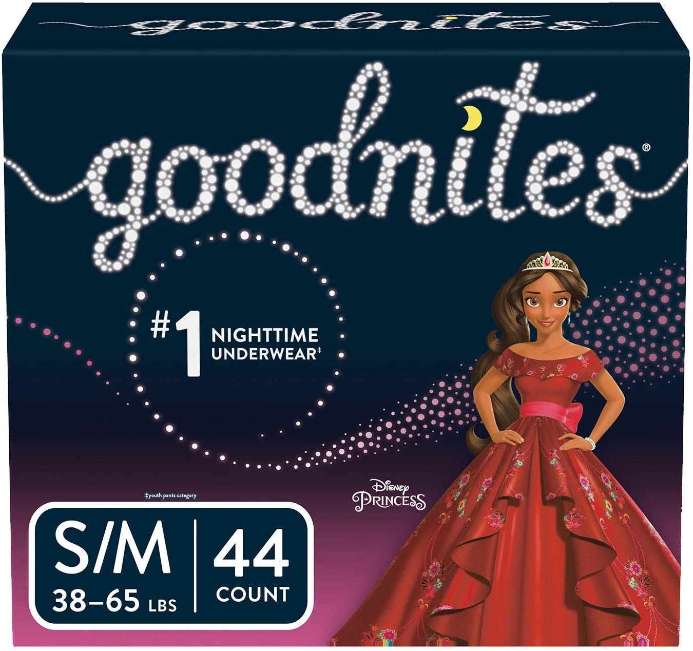 GOODNITES Bedtime Underwear for Girls, S/M 48 3865 lbs.
