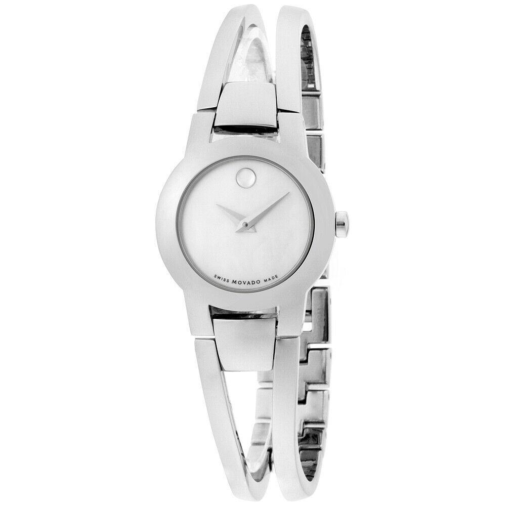 MOVADO Amorosa Quartz Movement Mother of Pearl Dial Ladies Watch 606538