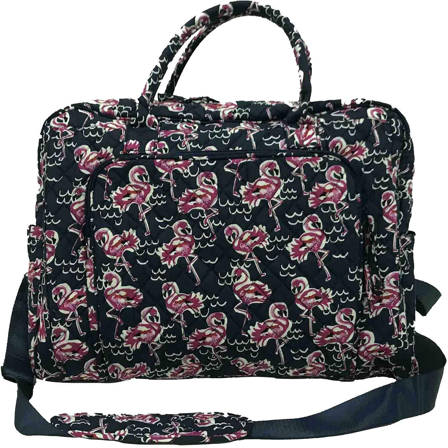Member's Mark Quilted Travel Tote in Navy Flamingo