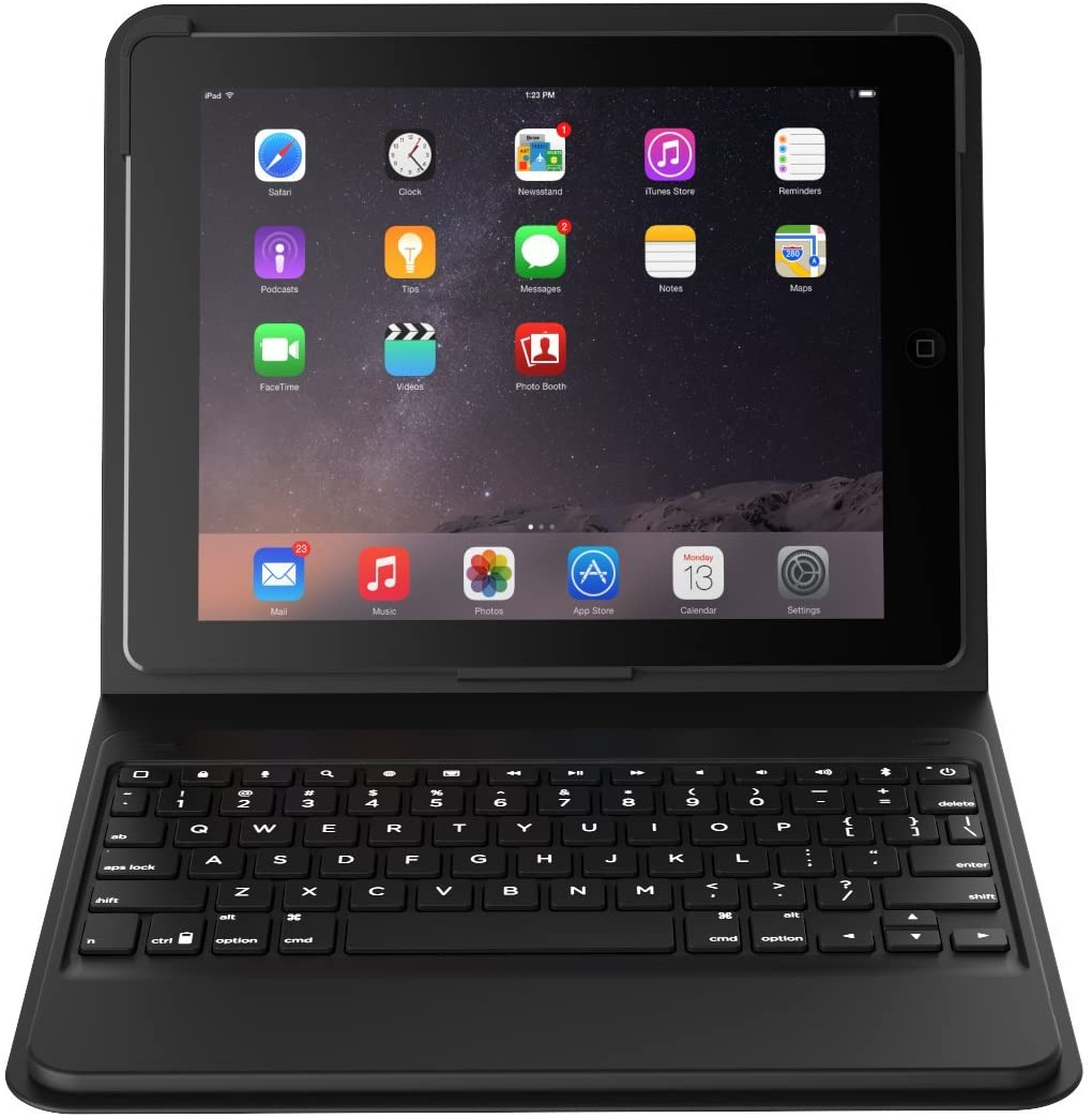 ZAGG Messenger Folio Case with Bluetooth Keyboard for iPad Air 2  Black