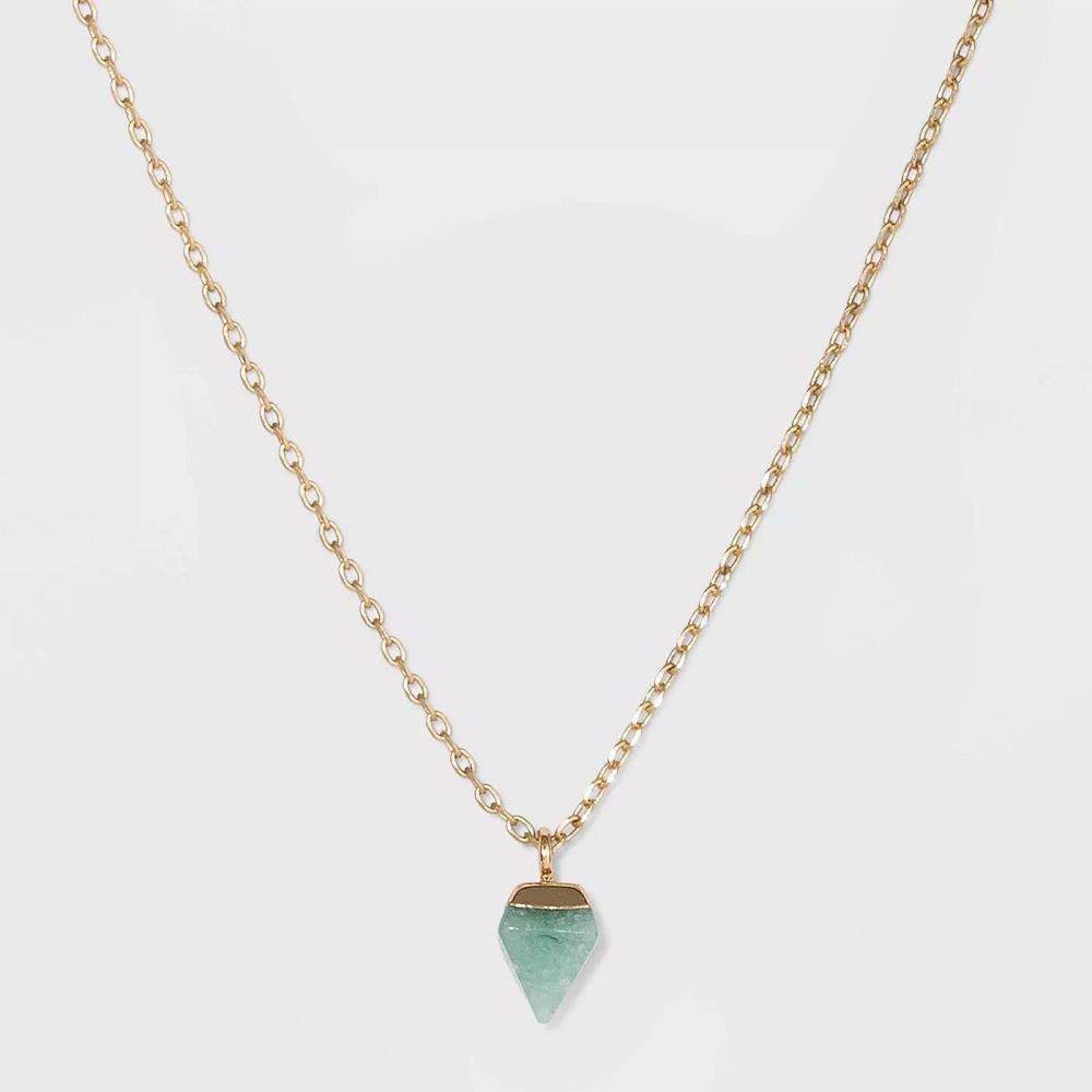 UNIVERSAL THREAD SemiPrecious Gold Charm Necklace