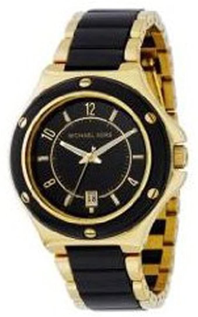 MICHAEL KORS Date Gold Tone And Black Ladies Watch MK5262