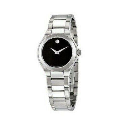 MOVADO Women's Classic Silver/Black Stainless Steel Watch   Model 606334