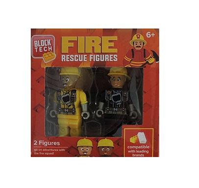Block Tech 2 Figures Fire Rescue Figures