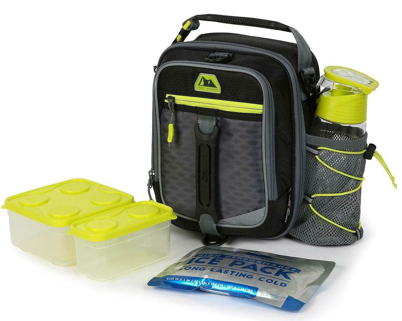 ARCTIC ZONE Lunch Bag Pack Az Pro High Performance Dual Compartment 8pc, Black