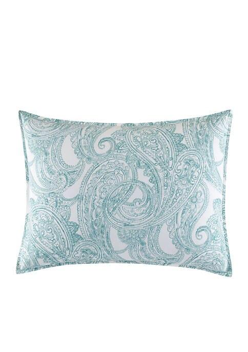 NAUTICA Long Bay Standard Pillow Sham In Aqua