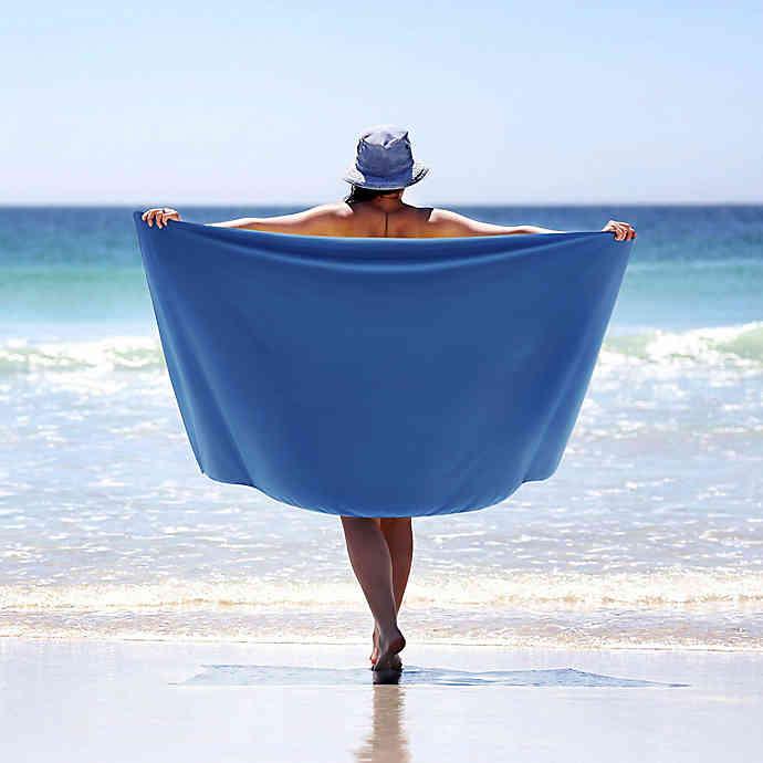 MORGAN HOME Beach Towel With Storage Bag In Cobalt