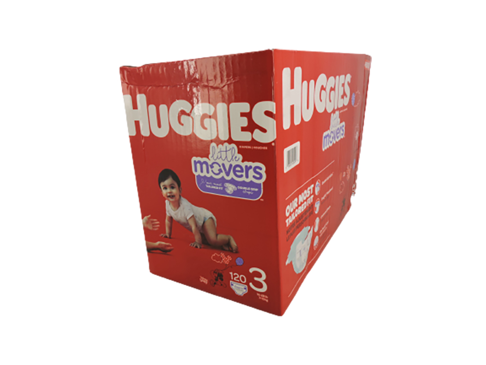 Huggies Little Movers Baby Diapers, Size 3, 120 Ct