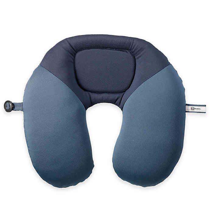 DESIGN GO Bean Snoozer Travel Pillow In Blue