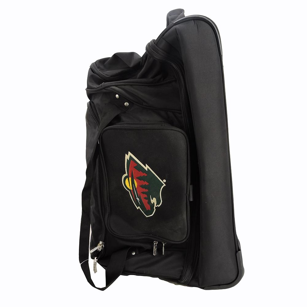DENCO  Sports Minnesota Wild 27inch Drop Bottom Rolling Duffel Bag