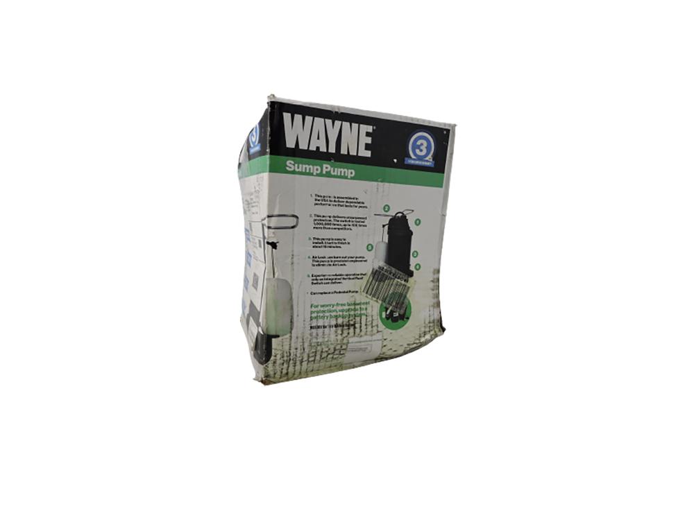WAYNE CDU790 1/3 HP EpoxyCoated Steel EnergyEfficient Sump Pump