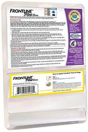 Frontline Plus Flea and Tick Treatment for Dogs 8 Month Supply (4588 LB, 8 Doses)