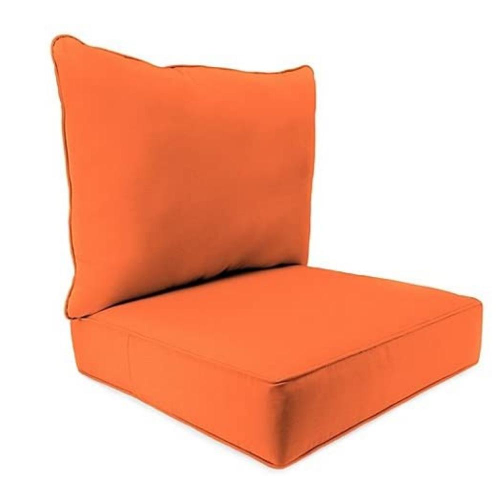 24Inch x 24Inch 2Piece Deep Seat Chair Cushion in Sunbrella Canvas Tuscan