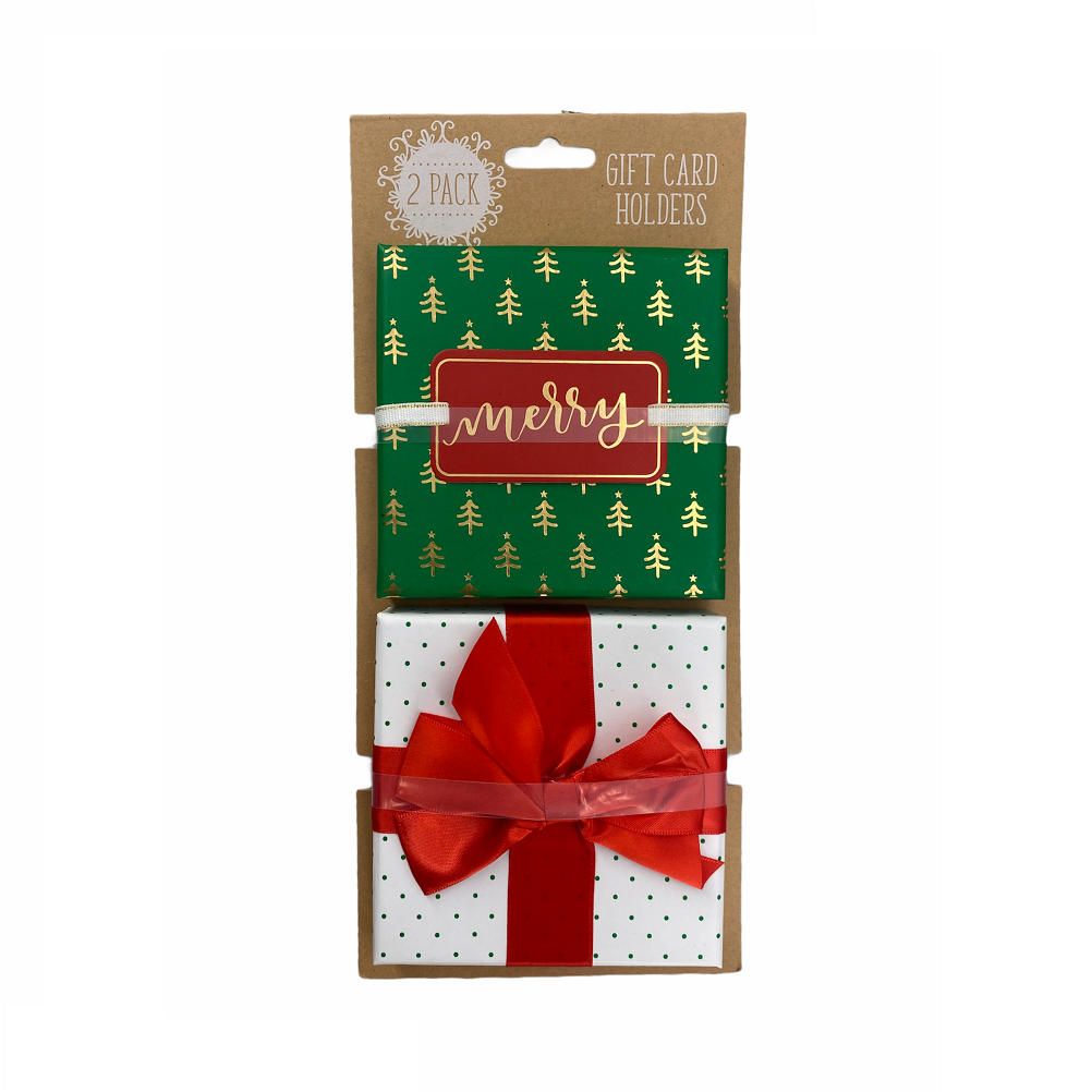 GCI Christmas Gift Card Holders Set in White