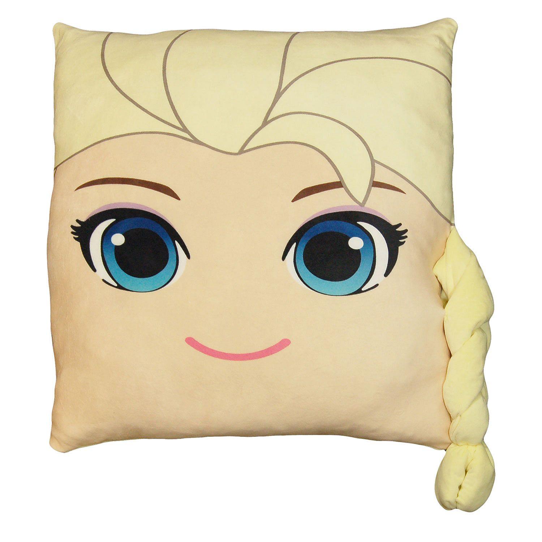 Disney's Frozen Elsa 24in Square 3D Ultra Stretch Travel Cloud Pillow