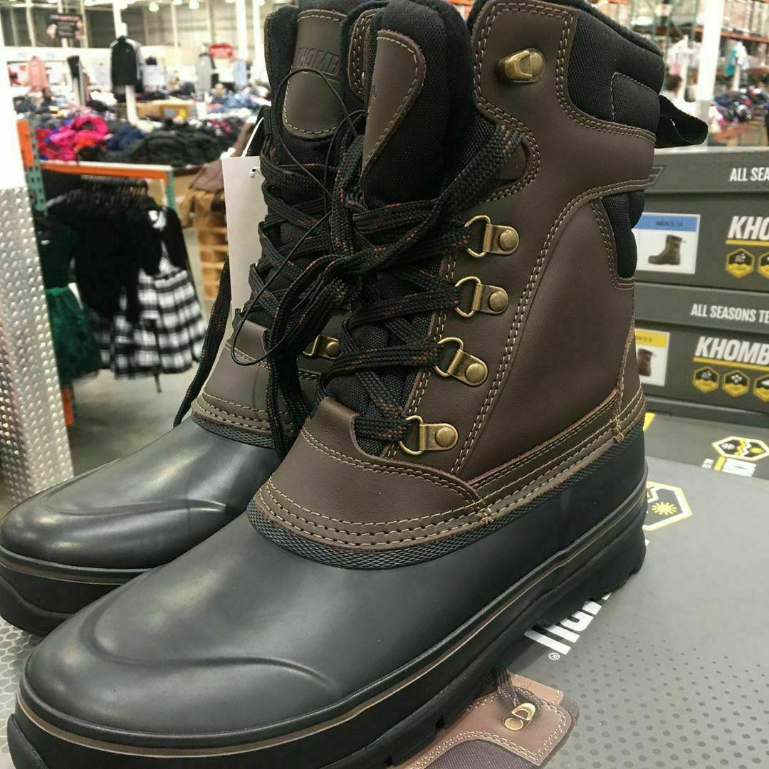 KHOMBU Men's Kenny Duck Boots In Brown, 8