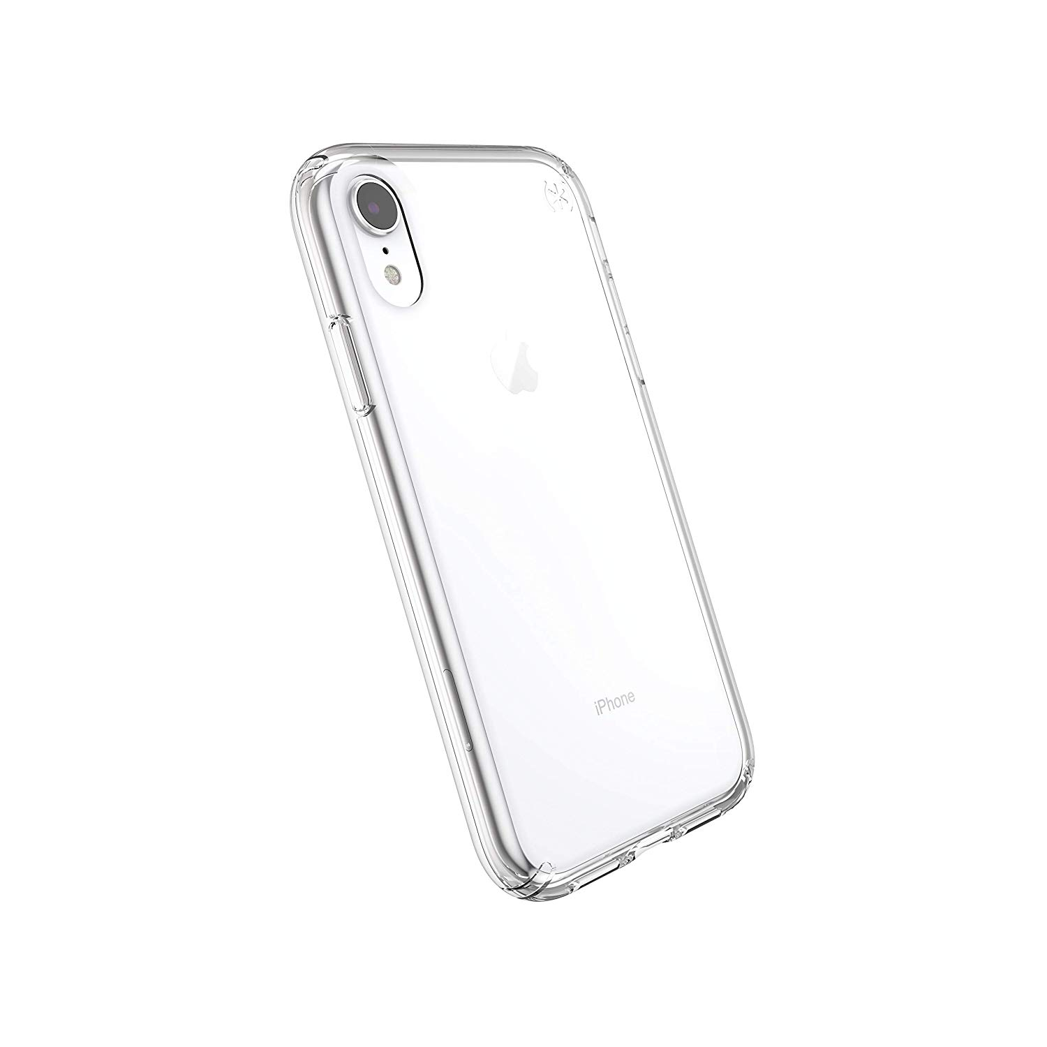 """Speck Products Compatible Phone Case for Apple iPhone XR 6.1"""" Display, Presidio Stay Clear Case, Clear/Clear"""