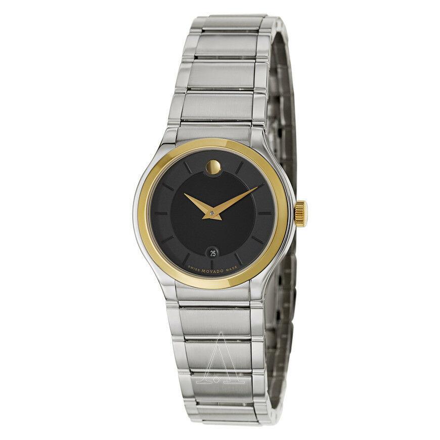 Movado Quadro Black Dial Men's Watch 0606954
