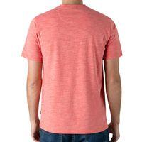 LEE Men's Short Sleeve Textured Henley in Coral, XXLarge