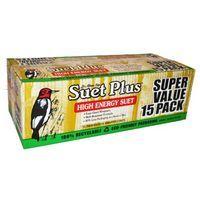 SUET PLUS HIGH ENERGY SUET CAKES  15 PACK