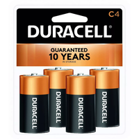DURACELL Coppertop C Batteries  4 Pack Alkaline Battery