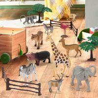 TERRA Jungle World Animal Toy Set In Bucket  (60Pc)