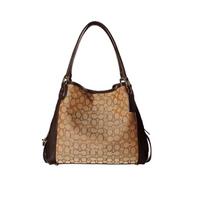 COACH Signature Edie 31 Shoulder Bag in Khaki