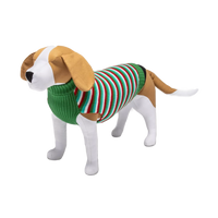 WONDERSHOP Green and Red Stripe Holiday Dog and Cat Sweater in XSmall