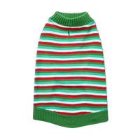 WONDERSHOP Green and Red Stripe Holiday Dog and Cat Sweater in Large