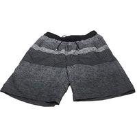 Kirkland Signature Men's Elastic Waistband Mesh Lined Swim Short Trunk (Black Grey Stripe, Medium)