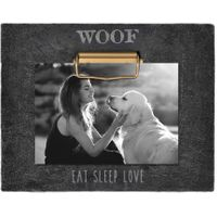 WOOF SENTIMENT 4INCH X 6INCH CLIP PHOTO FRAME