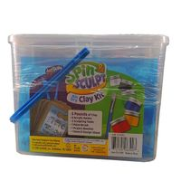 Artskills Spin Sculpt Airdry Clay Kit. 5 lbs. Refill Pack in Blue