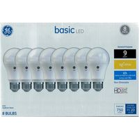 GE Basic 60Watt EQ A19 Soft White LED Light Bulb (8Pack)