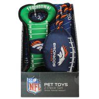 Pets First NFL Licensed Pet Toy, 2 pk, Denver Broncos