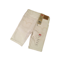 GIRLS LEVI'S BERMUDA SHORTS IN WHITE, 45 YEARS
