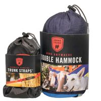 Double Parachute Nylon Hammock with Strap by Grand Trunk in Navy/ Light Blue