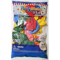 "PartyMate USA 12"" Printed Latex Balloons, Birthday (50 ct.)"