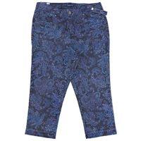 Bandolino Millie Curvy Straight Capri Fray Cuff in Majestic Blue, Size 8