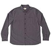 Boston Traders Men's Long Sleeve Dobby Shirt In Obsidian, XXL