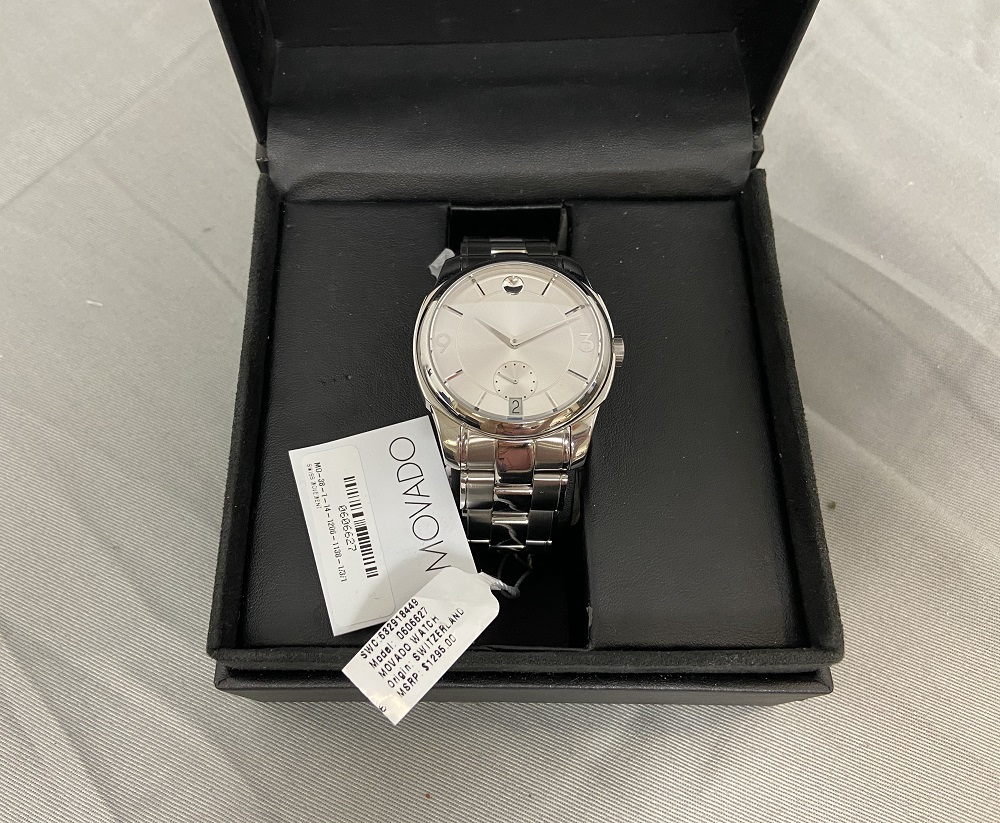Movado LX 0606626 Men's 42mm Stainless Steel Silver Tone Swiss Watch