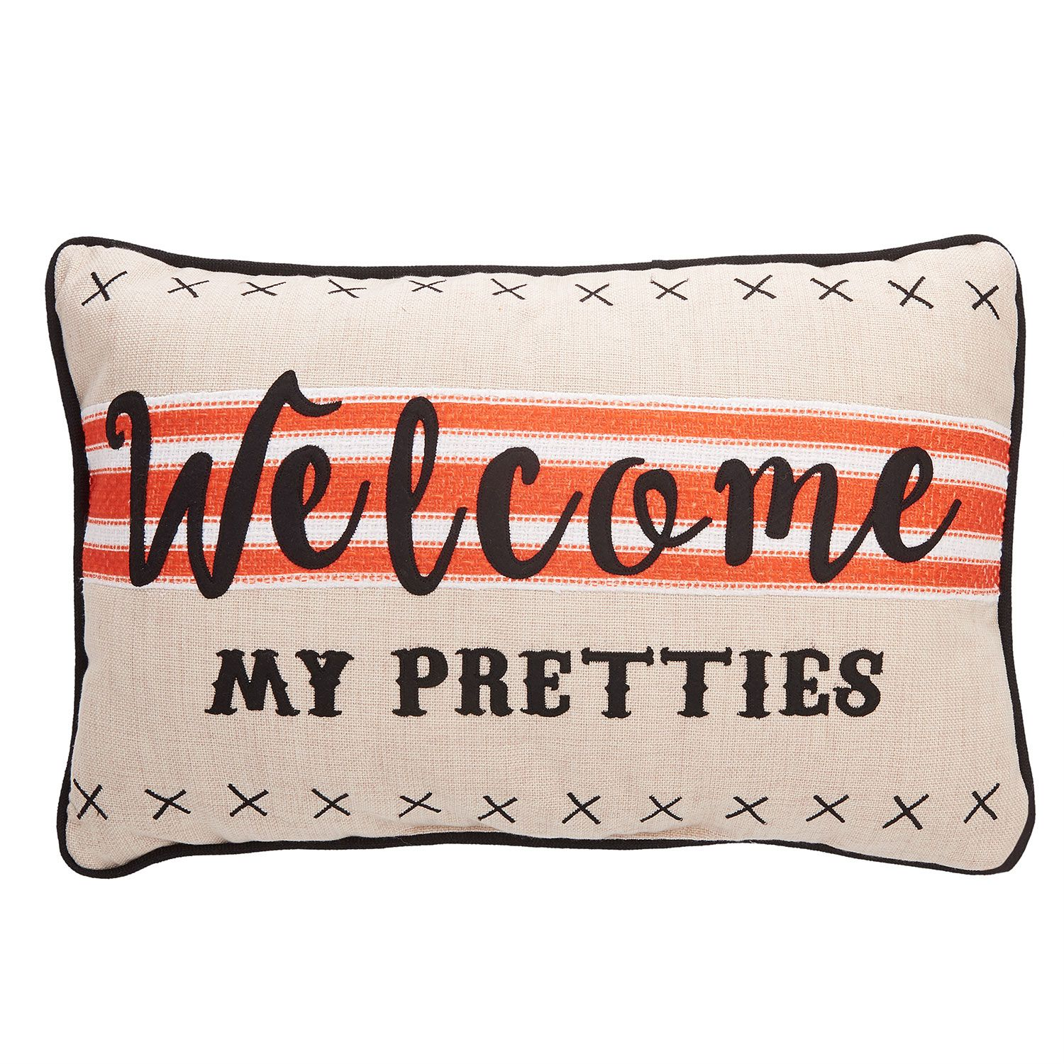 "Member's Mark Festive Harvest Pillow ""Welcome My Prettiest"" 22W x 14L"