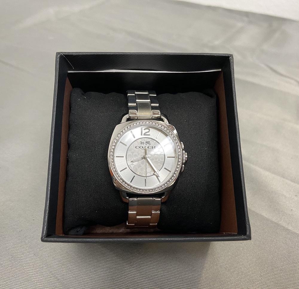Coach Boyfriend Women's Silver Dial Stainless Steel Band Watch  14502147