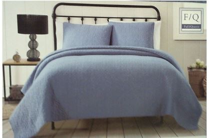 AMERICAN TRADITIONS 3 PIECE KING QUILT  BLUE JEAN