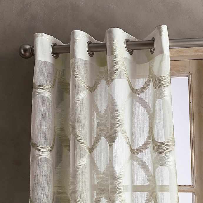 PERI HOME Marni 84 Inch Grommet Sheer Window Curtain Panel in Linen