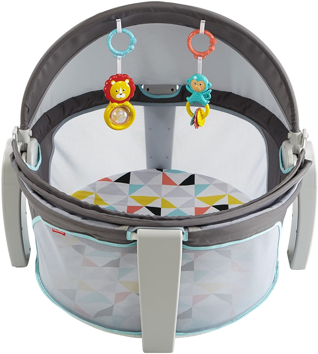 FISHERPRICE HEXAGONS ONTHEGO BABY DOME IN GREY