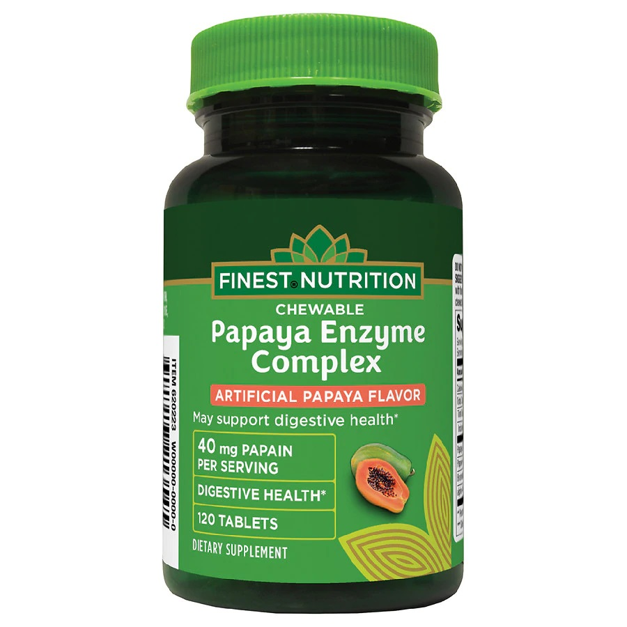 Finest Nutrition Chewable Papaya Enzyme Complex 120 Tablets