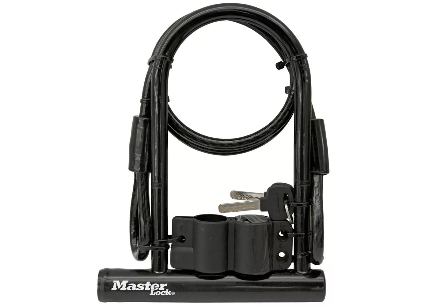 "Master Lock 6.5"" U Lock with Looped End Cable"