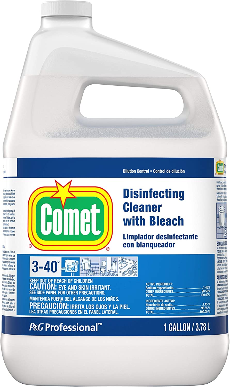 Comet Disinfecting Cleaner with Bleach, 1 Gallon