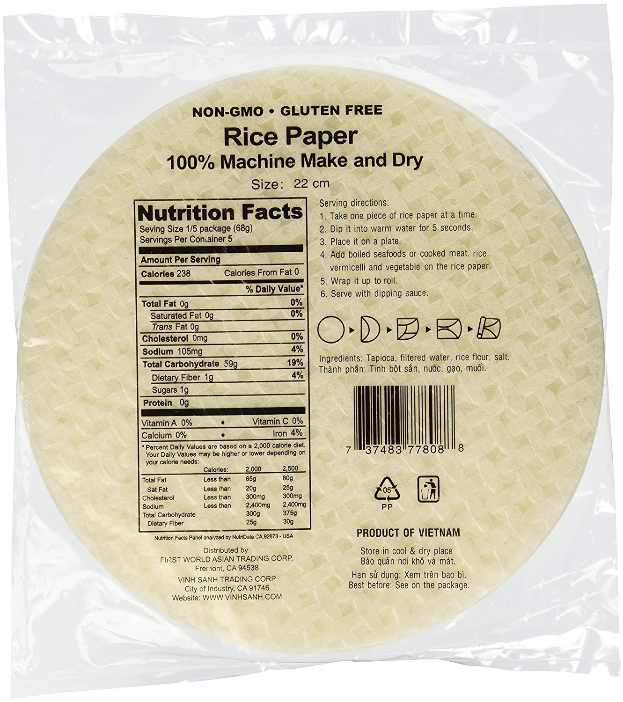 Three Ladies Brand Rice Paper, 12 oz