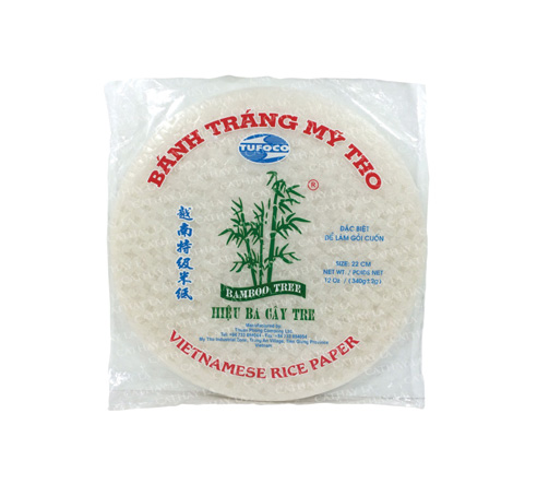 Tufoco Bamboo Tree Spring Roll Rice Paper Wrappers, 12 oz.